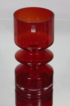 Riihimäen lasi 1472 maljakko, rubiininpunainen, suunnittelija Tamara Aladin,