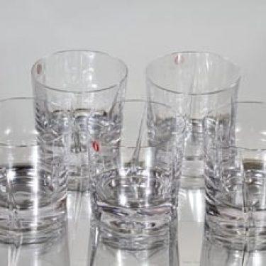 Iittala Viva lasit, kirkas, 5 kpl, suunnittelija Tapio Wirkkala,