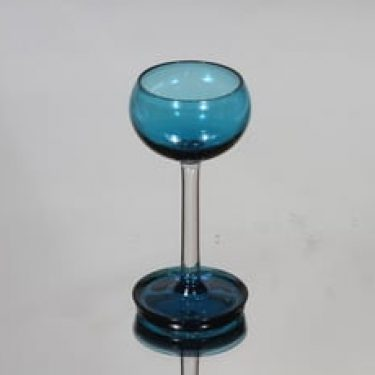 Riihimäen lasi Harlekiini liköörilasi, sininen, suunnittelija Nanny Still, pieni