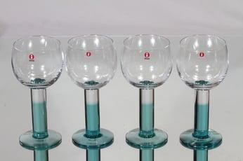 Nuutajärvi Mondo lasit, 28 cl, 4 kpl, suunnittelija Kerttu Nurminen, 28 cl
