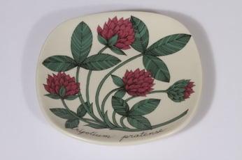 Arabia Botanica koristelautanen, Puna-apila, suunnittelija Esteri Tomula, Puna-apila, pieni, serikuva