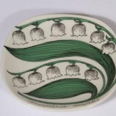 Arabia Botanica koristelautanen, Kielo, suunnittelija Esteri Tomula, Kielo, pieni, serikuva