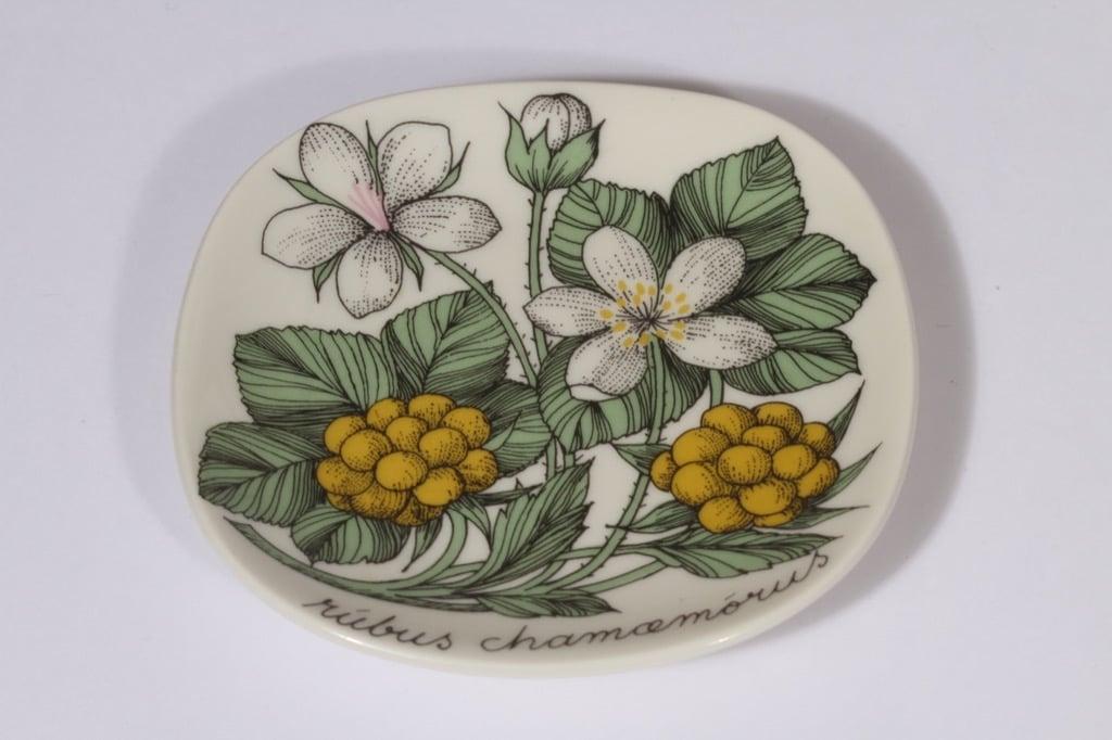 Arabia Botanica koristelautanen, Suomuurain, suunnittelija Esteri Tomula, Suomuurain, pieni, serikuva