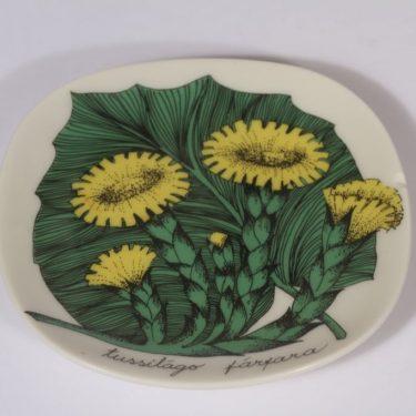 Arabia Botanica koristelautanen, Leskenlehti, suunnittelija Esteri Tomula, Leskenlehti, pieni, serikuva