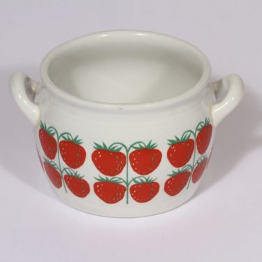 Arabia Pomona jar, strawberry, designer Raija Uosikkinen, 0.5 l, silk screening, small