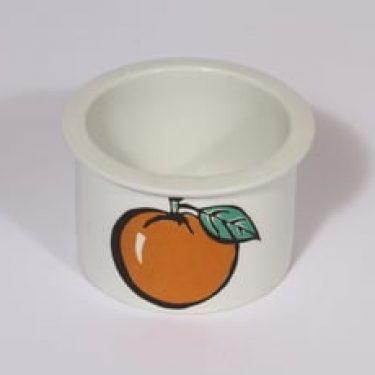 Arabia Tutti Frutti purnukka, omena, suunnittelija Ulla Procope, omena, pieni, serikuva