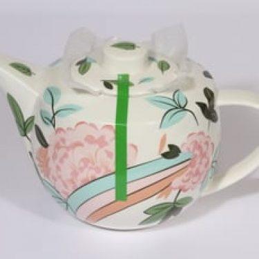 Arabia China tea teekaadin, 1.6 l, suunnittelija Dorrit von Fieandt, 1.6 l, serikuva, kukka-aihe