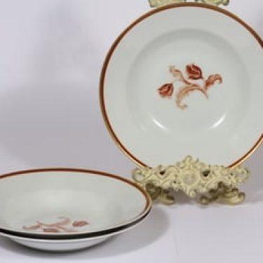 Arabia koriste 3314 lautaset, syvä, 3 kpl, suunnittelija , syvä, siirtokuva