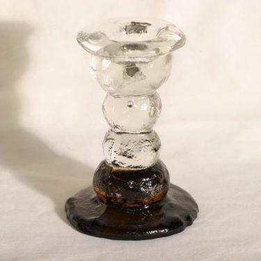 Humppila Kivi-Set kynttilänjalka, ruskea|kirkas, suunnittelija Pertti Santalahti,