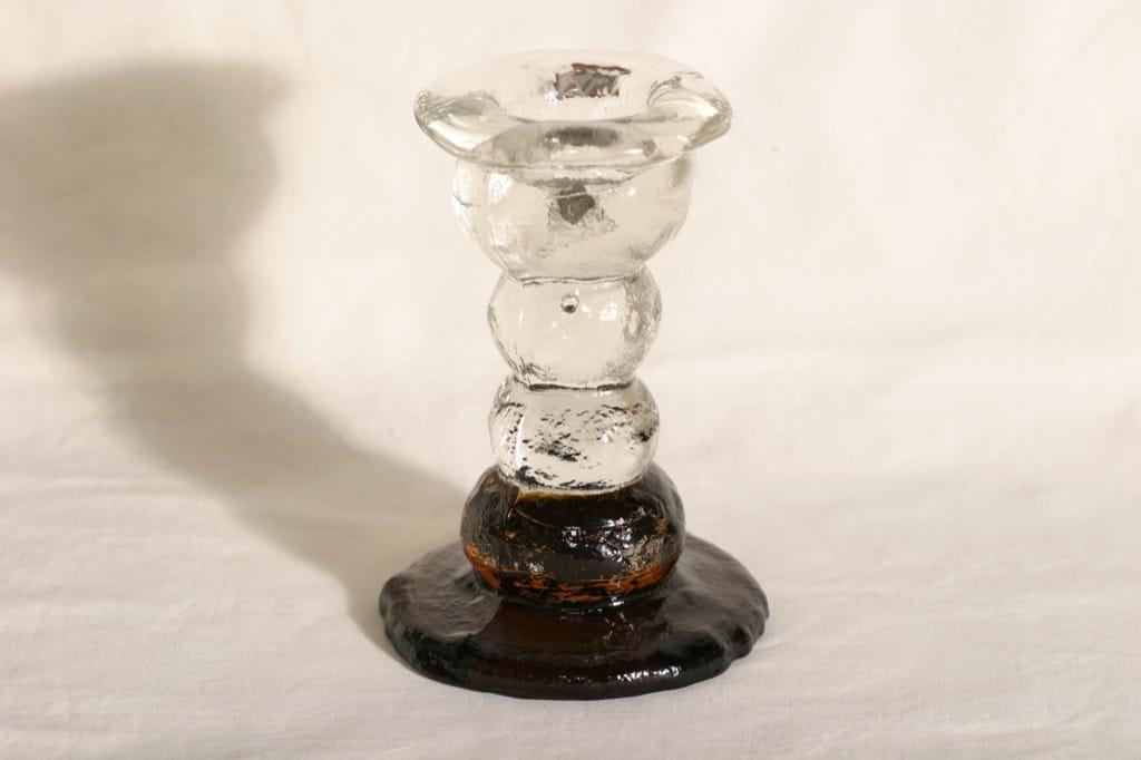 Humppila Kivi-Set kynttilänjalka, ruskea kirkas, suunnittelija Pertti Santalahti,