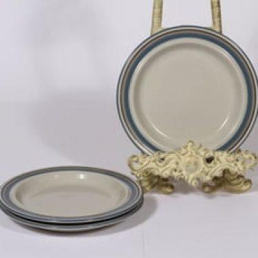 Arabia Uhtua lautaset, pieni, 3 kpl, suunnittelija Inkeri Leivo, pieni, raitakoriste