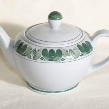 Arabia Green Laurel teekaadin, käsinmaalattu, suunnittelija , käsinmaalattu