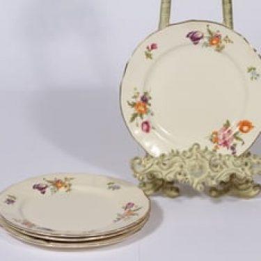 Arabia Kesäkukka lautaset, 4 kpl, suunnittelija , pieni, siirtokuva, kukka-aihe