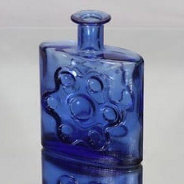 Riihimäen lasi Paukkurauta koristepullo, sininen, suunnittelija Erkkitapio Siiroinen,