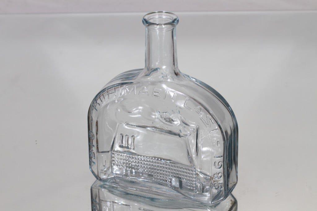 Riihimäen lasi koristepullo, Riihimäen lasi 75 vuotta, suunnittelija , Riihimäen lasi 75 vuotta
