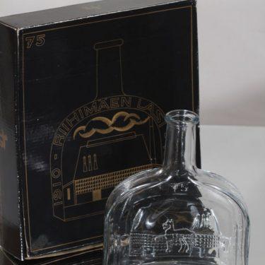 Riihimäen lasi koristepullo, Riihimäen lasi 75 vuotta, suunnittelija , Riihimäen lasi 75 vuotta kuva 2