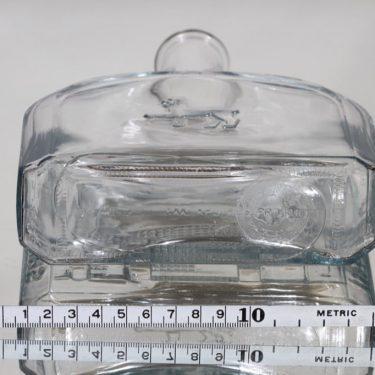 Riihimäen lasi koristepullo, Riihimäen lasi 75 vuotta, suunnittelija , Riihimäen lasi 75 vuotta kuva 3