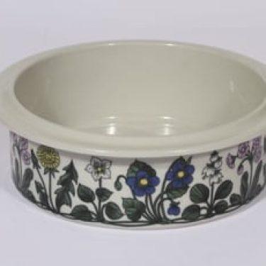 Arabia Flora kulho, suunnittelija Esteri Tomula, serikuva, kukka-aihe