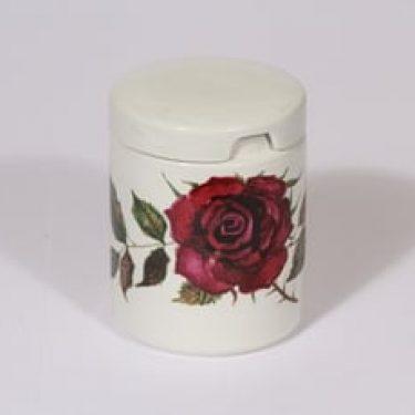 Arabia Ruusu purnukka, punainen, suunnittelija Anneli Qveflander, serikuva