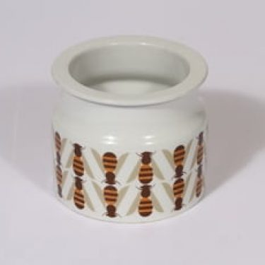Arabia Pomona purnukka, hunaja, suunnittelija Raija Uosikkinen, hunaja, serikuva, mehiläinen