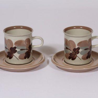 Arabia Koralli kahvikupit, 16 cl, 2 kpl, suunnittelija Raija Uosikkinen, 16 cl, käsinmaalattu