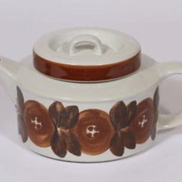 Arabia Rosmarin teekaadin, 1.35 l, suunnittelija Ulla Procope, 1.35 l, käsinmaalattu, signeerattu