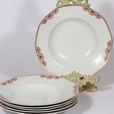 Arabia Timo lautaset, syvä, 6 kpl, suunnittelija , syvä, painokoriste