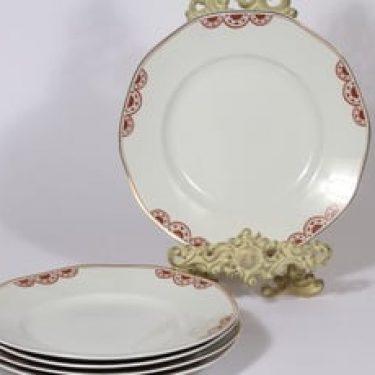 Arabia Timo lautaset, matala, 5 kpl, suunnittelija , matala, painokoriste