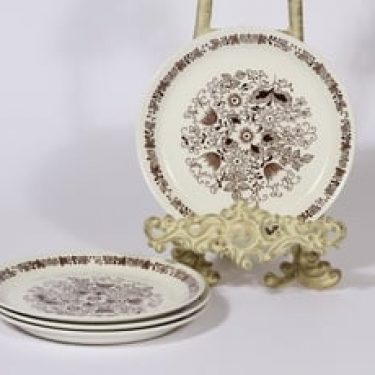 Arabia Tuula lautaset, pieni, 4 kpl, suunnittelija Esteri Tomula, pieni, serikuva