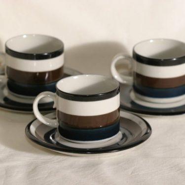 Arabia Kaira kahvikupit, käsinmaalattu, 3 kpl, suunnittelija Anja Jaatinen-Winquist, käsinmaalattu