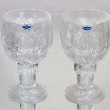 Nuutajärvi Pioni lasit, 35 cl, 2 kpl, suunnittelija Oiva Toikka, 35 cl