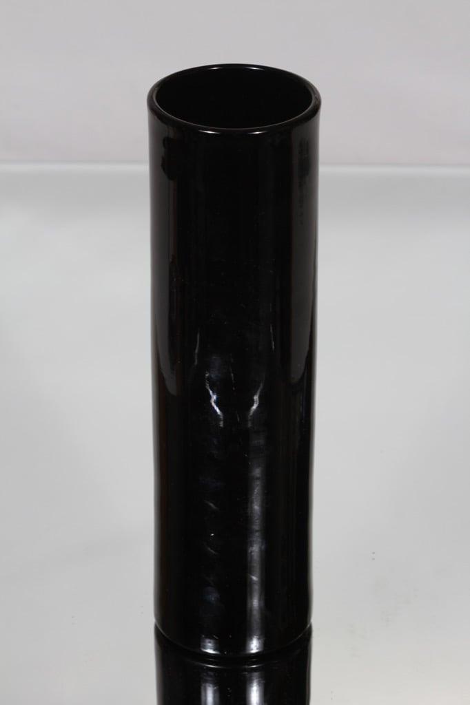 Riihimäen lasi 1400 maljakko, musta, suunnittelija Nanny Still,