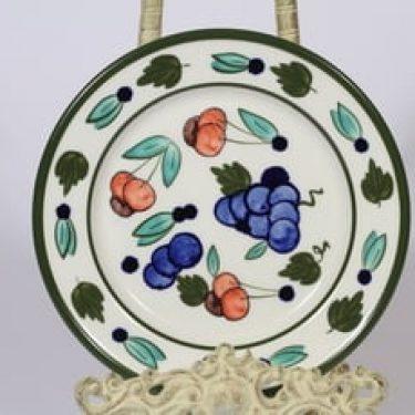 Arabia Palermo leivoslautanen, käsinmaalattu, suunnittelija Dorrit von Fieandt, käsinmaalattu, signeerattu