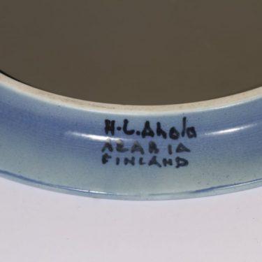 Arabia HLA peili, käsinmaalattu, suunnittelija Hilkka-Liisa Ahola, käsinmaalattu, signeerattu kuva 3
