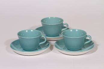 Arabia Maija kahvikupit, turkoosi, 3 kpl, suunnittelija Olga Osol,