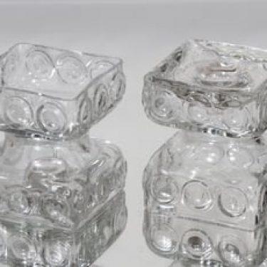 Riihimäen lasi Kehrä kääntömaljakot, kirkas, 2 kpl, suunnittelija Tamara Aladin, pieni