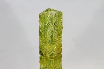 Riihimäen lasi Rengas kääntömaljakko, keltainen, suunnittelija Tamara Aladin, pieni