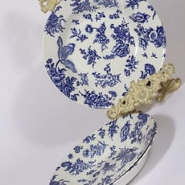 Arabia Dorothea lautaset, syvä, 3 kpl, suunnittelija , syvä, kuparipainikoriste
