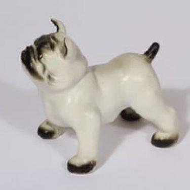 Arabia K 50 eläinfiguuri, koira, suunnittelija Lea von Mickwitz, koira, käsinmaalattu