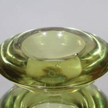 Riihimäen lasi Hellaa taide-esine, signeerattu, suunnittelija Aimo Okkolin, signeerattu, pieni, massiivinen