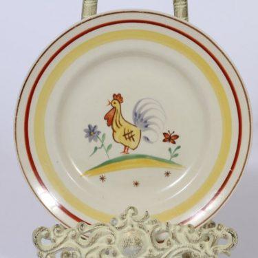 Arabia FF lasten lautanen, käsinmaalattu, suunnittelija , käsinmaalattu, kana-aihe