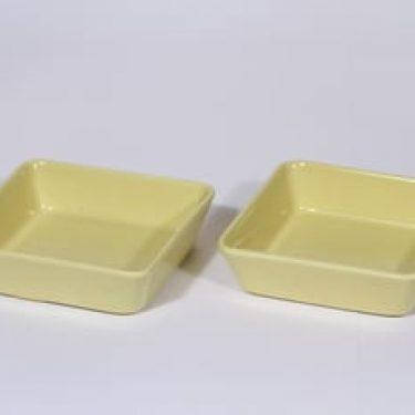 Arabia Kilta kulhot, keltainen lasite, 2 kpl, suunnittelija Kaj Franck, pieni