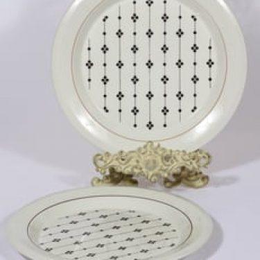 Arabia Kartano lautaset, matala, 2 kpl, suunnittelija Esteri Tomula, matala, serikuva