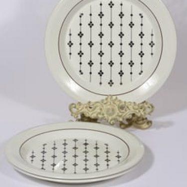 Arabia Kartano lautaset, matala, 3 kpl, suunnittelija Esteri Tomula, matala, serikuva