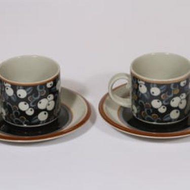 Arabia Taika kahvikupit, 20 cl, 2 kpl, suunnittelija Inkeri Leivo, 20 cl, erikoiskoriste, retro