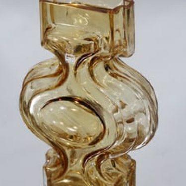 Riihimäen lasi Emma malajkko, amber, suunnittelija Helena Tynell,
