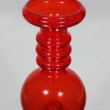 Riihimäen lasi Carmen kääntömaljakko, punainen, suunnittelija Tamara Aladin,