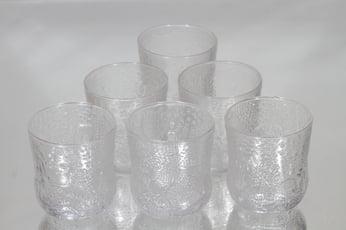 Nuutajärvi Fauna lasit, 25 cl, 6 kpl, suunnittelija Oiva Toikka, 25 cl