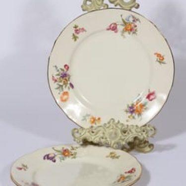 Arabia Kesäkukka lautaset, matala, 3 kpl, suunnittelija , matala, siirtokuva, kukka-aihe