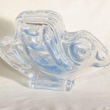 Riihimäen lasi Lintu taidelasi, signeerattu, suunnittelija Helena Tynell, signeerattu kuva 2